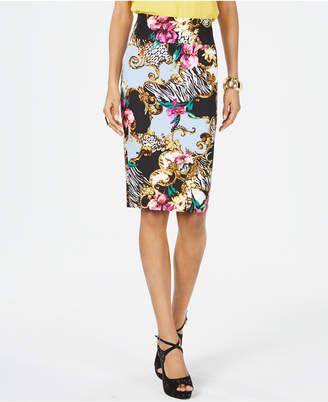 Thalia Sodi Printed Scuba Pencil Skirt