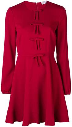 RED Valentino bow detail longsleeved dress