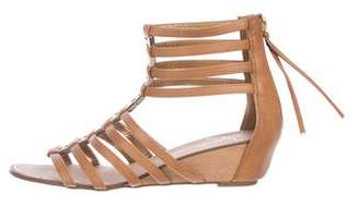 Report Signature Leather Caged Sandals