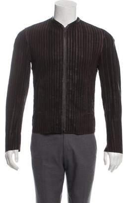 Dolce & Gabbana Textured Leather Jacket
