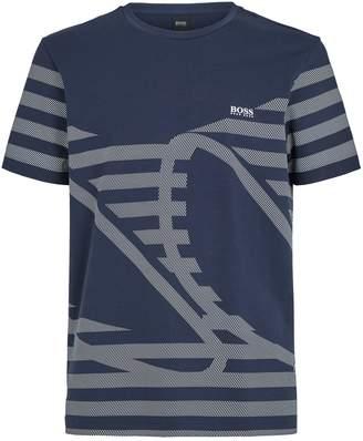 BOSS Geometric Detail Logo T-Shirt