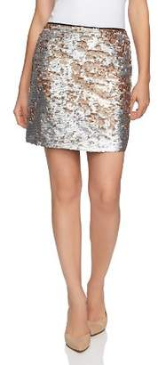 1 STATE 1.STATE Matte Sequin Mini Skirt