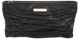 MICHAEL Michael Kors Pleated Leather Clutch