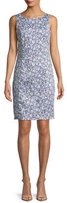 LORI MICHAELS Floral-Print Sheath Dress