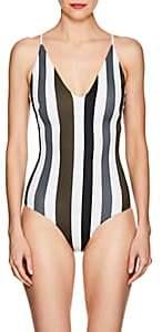 Mikoh Women's Las Palmas One-Piece Swimsuit-Black, White, Green