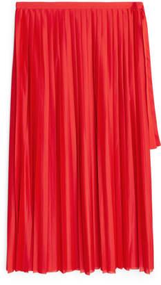 Arket Pleated Jersey Skirt