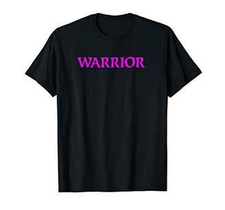 Fuchsia Text Warrior Yoga Tee Shirt