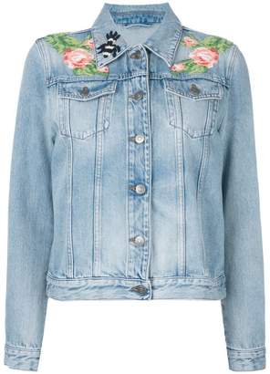 Gucci embroidered denim jacket