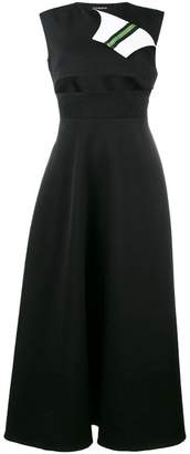 Calvin Klein Marching Band sleeveless midi dress