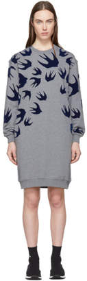 McQ Grey Swallow Signature Sweatshirt Dress