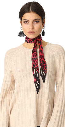 Rockins Leopard's Teeth Super Skinny Scarf $130 thestylecure.com