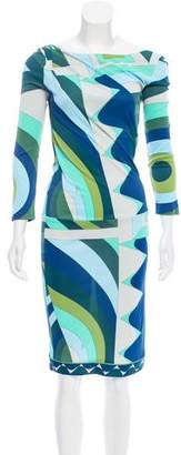 Emilio Pucci Long Sleeve Midi Dress