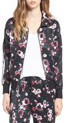 Women's Love, Fire Floral Print Track Jacket $35 thestylecure.com