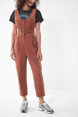Urban Outfitters Gretel Button-Down Corduroy Jumpsuit