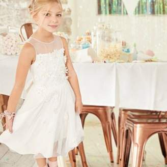 River Island Girls white tulle skirt flower girl dress