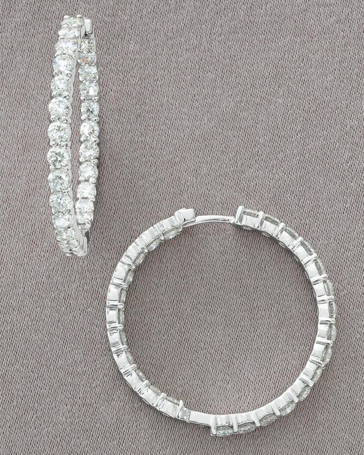 Roberto Coin Diamond Hoop Earrings, 5.50 TCW