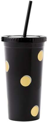 Kate Spade Tumbler with Straw Scatter Dots