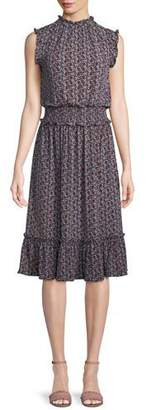 MICHAEL Michael Kors Tulip Smocked-Waist Sleeveless Dress