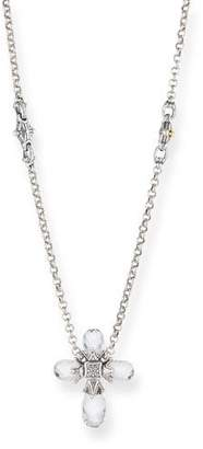 Konstantino Pythia Crystal Cross Pendant Necklace