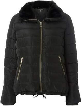 Dorothy Perkins Womens Black Faux Fur Padded Jacket