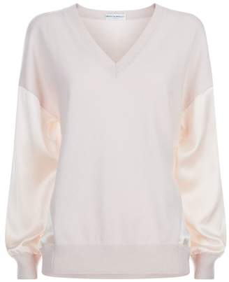 Amanda Wakeley Cashmere-Silk V-Neck Sweater