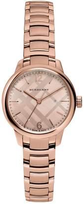 Burberry Women's The Classic Round Swiss Quartz Bracelet Watch, 32mm