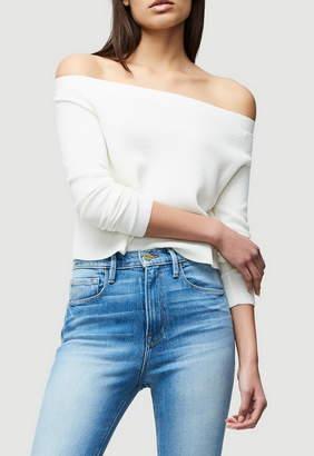Frame Cropped Rib Sweater