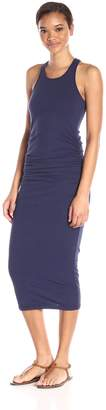 Michael Stars Women's Racerback Midi Dress with Shirring