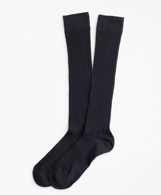 Brooks Brothers Cable-Knit Knee Socks