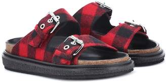 Isabel Marant Ledkin plaid wool slides