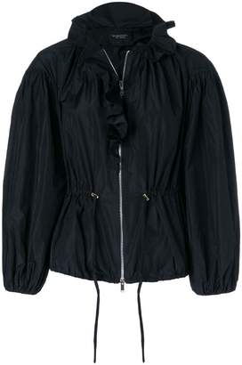 Giambattista Valli frill neck bomber jacket