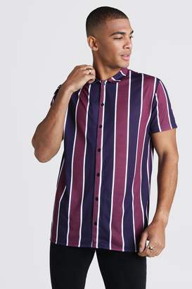 boohoo Short Sleeve Stripe Shirt