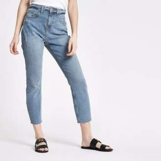 River Island Womens Petite mid blue Casey slim fit jeans
