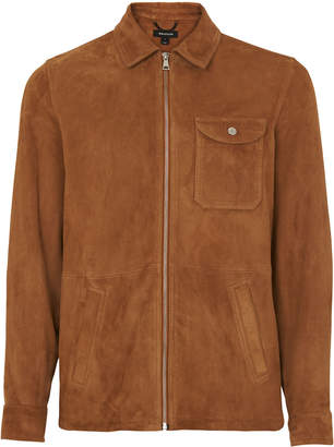 Whistles Suede Zip Up Overshirt