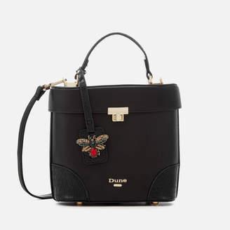 Dune Women's Duffie Small Vanity Top Handle Bag - Black