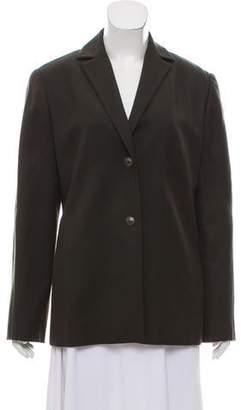 Valentino Notch-Lapel Button-Up Jacket