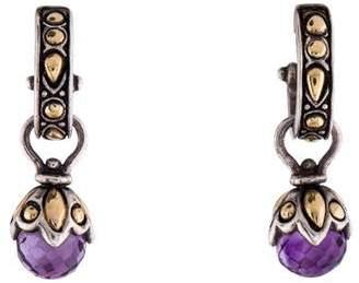 John Hardy Amethyst Drop Earrings