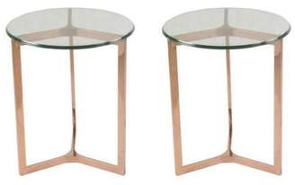 Apt2B San Clemente Side Table Set of 2 ROSE GOLD - CLEARANCE