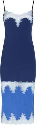 Pinko Lace Trim Midi Dress