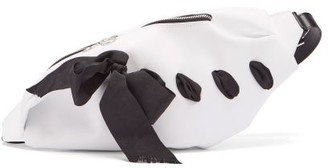 Marques Almeida Marques'almeida - Ribbon Trim Leather Belt Bag - Womens - White Multi