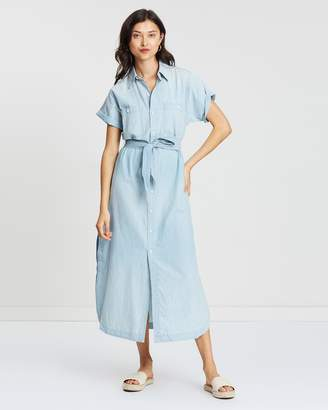 Polo Ralph Lauren Denim Short Sleeve Maxi Dress