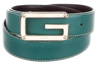 87258d41c8d Gucci Silver-Tone G Logo Leather Waist Belt