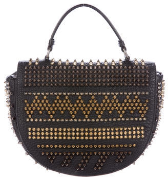 Christian Louboutin  Christian Louboutin Spiked Leather Crossbody Bag