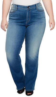 Boutique + + Curvy Fit Slim Bootcut Jeans - Plus