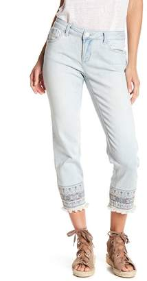 Democracy Embroidered Straight Leg Jeans