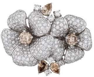 18K Mixed Cut Brown Diamond Flower Pendant
