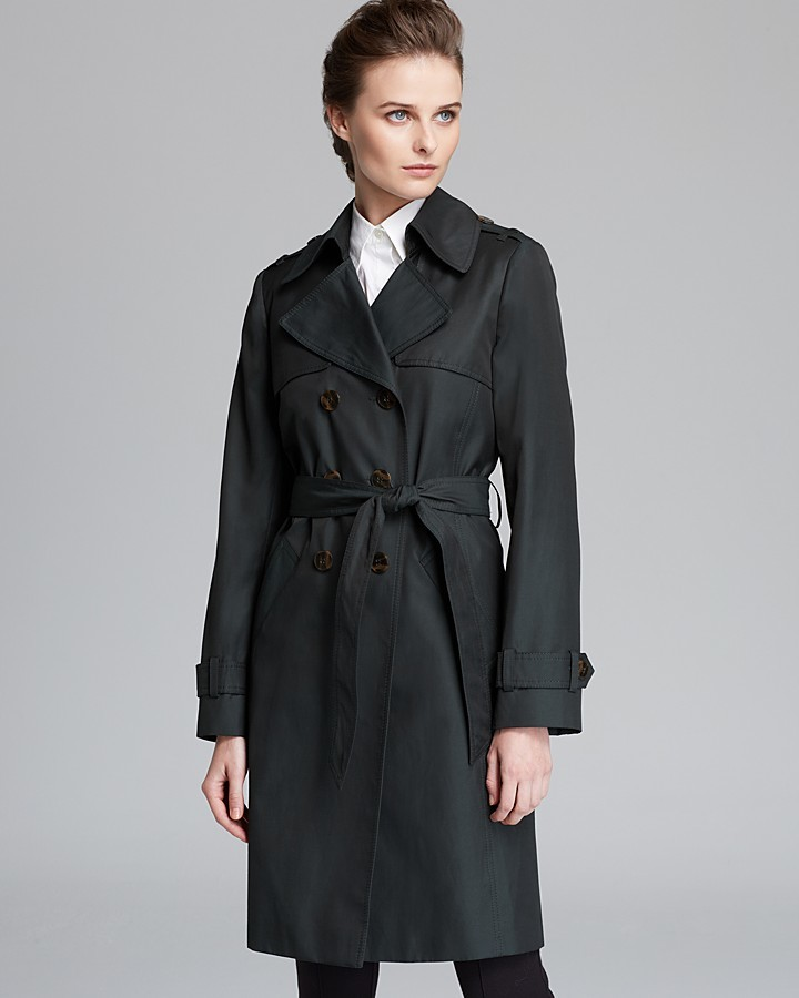 DKNY Trench Coat with Elongated Shields