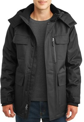 Swiss Tech Men's and Big Men's Parka Jacket, up to Size 5XL