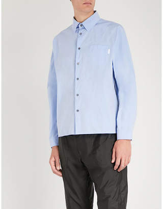 Prada Two-tone regular-fit shell shirt
