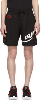 Givenchy Black Sports Printed Shorts